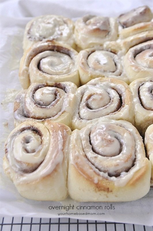 Overnight Cinnamon Rolls are amazing. Make them the night before and ...