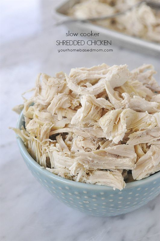 Make perfectly shredded chicken every time in the slow cooker!