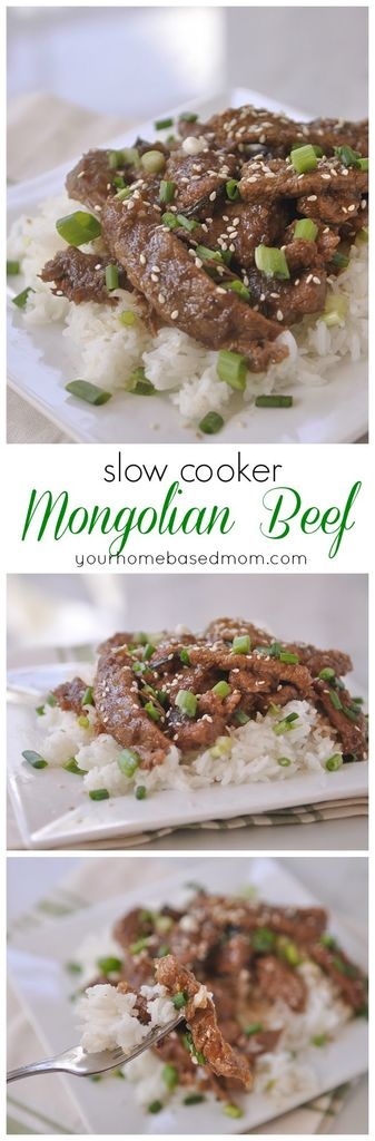 Slow Cooker Mongolian Beef - my favorite take out food made at home!