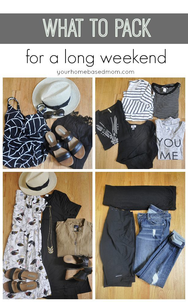 What to Pack for a Long Weekend 2