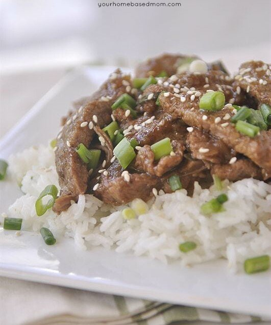 slow cooker mongolian beef is one of my favorite take out foods to make at home. Using the slow cooker makes it super easy.