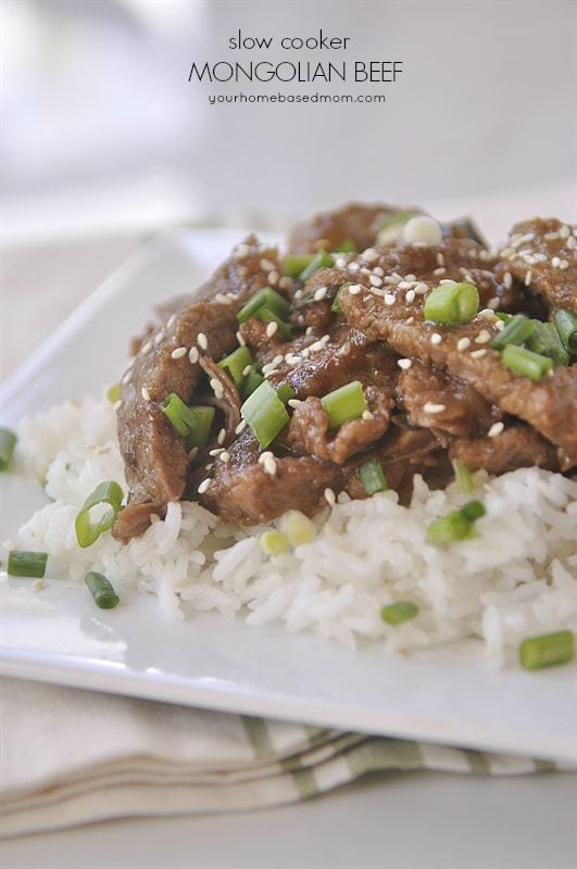 slow cooker mongolian beef over rice