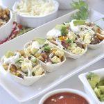 Breakfast Taco Boats on a plate