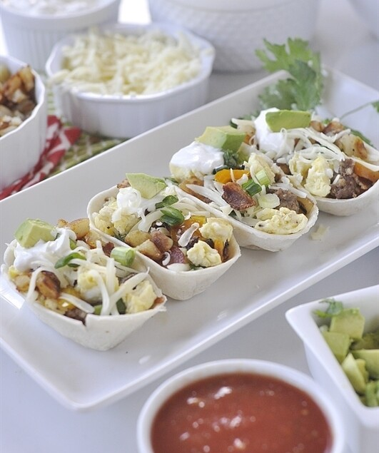 Breakfast Taco Boats