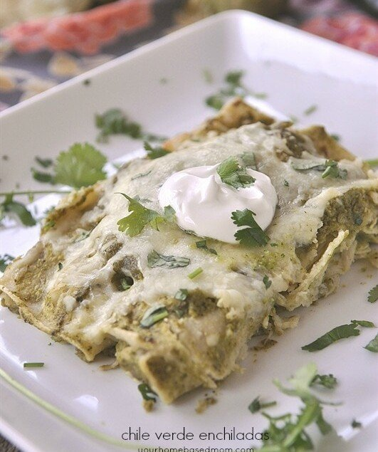 Chile Verde Enchiladas should totally be put on the menu for this week!