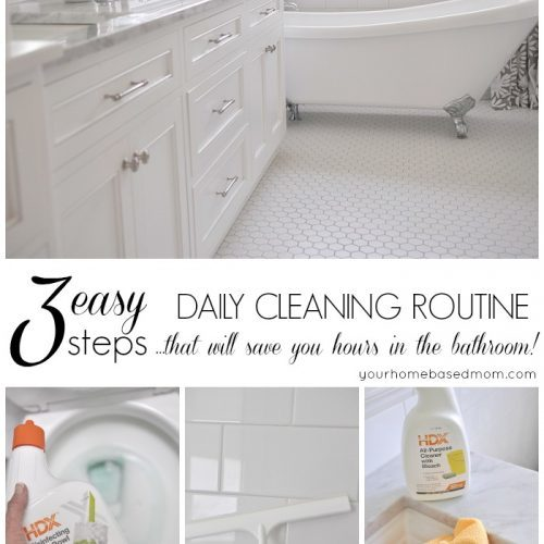 Daily Cleaning Routine for the Bathroom