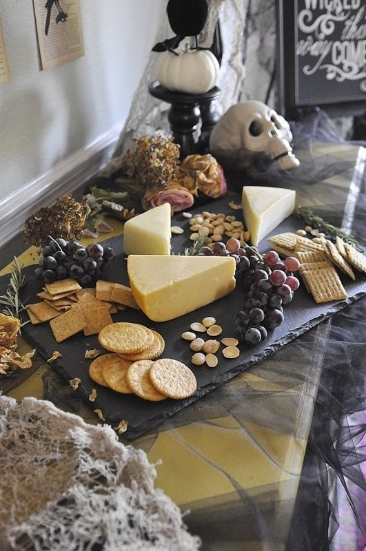 Halloween Cheese & Cracker Board