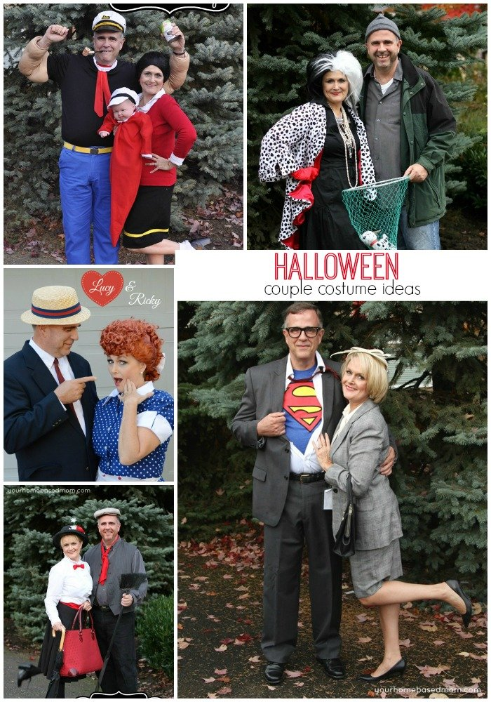 Halloween Couple Costume Ideas @yourhomebasedmom.com