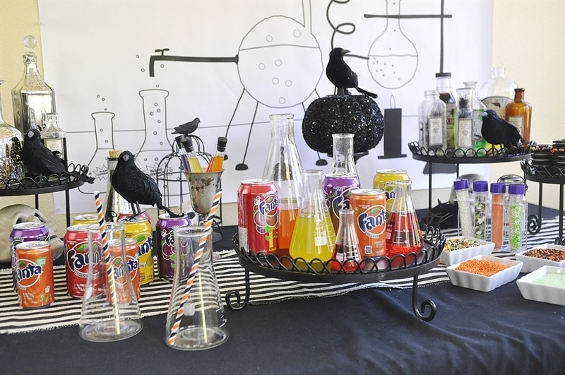 Mad Scientist Soda Laboratory - Halloween Party Idea