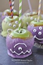 Halloween Monster Caramel Apples