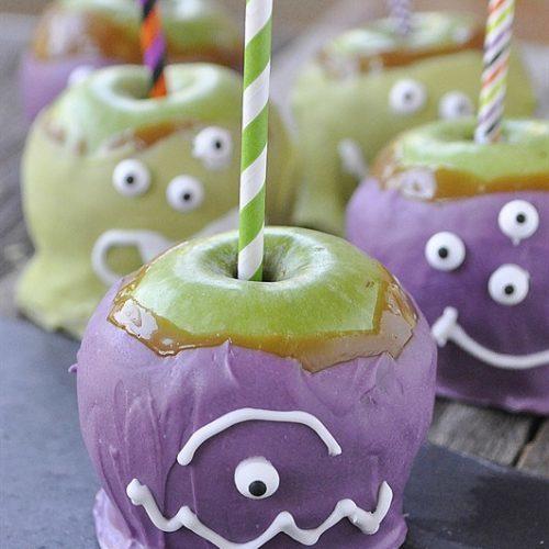 Halloween Monster Caramel Apples