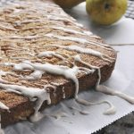 Pear Pecan Snack Cake with Cinnamon Drizzle