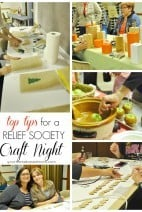 Top Tips for a Relief Society Craft Night