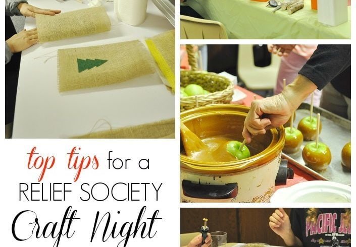 Top Tips for a Successful Relief Society Craft Night