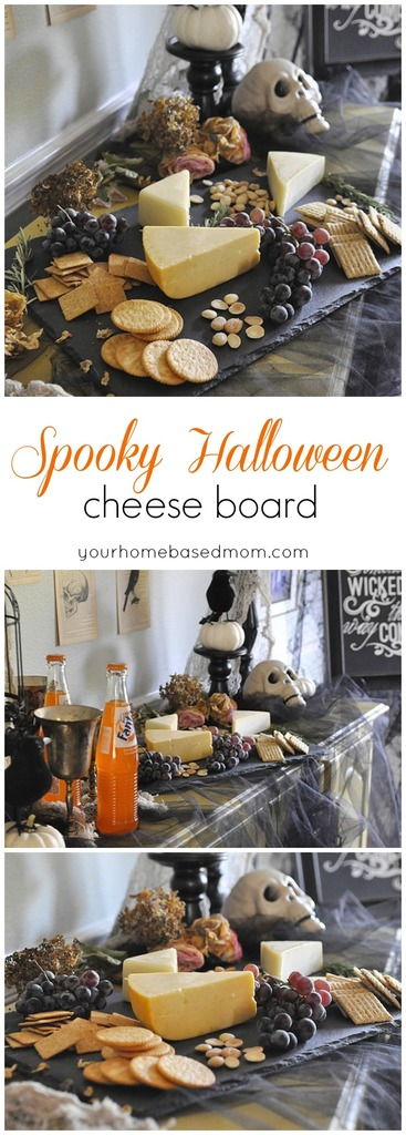 Spooky Halloween Cheeseboard, for your Halloween dinner party