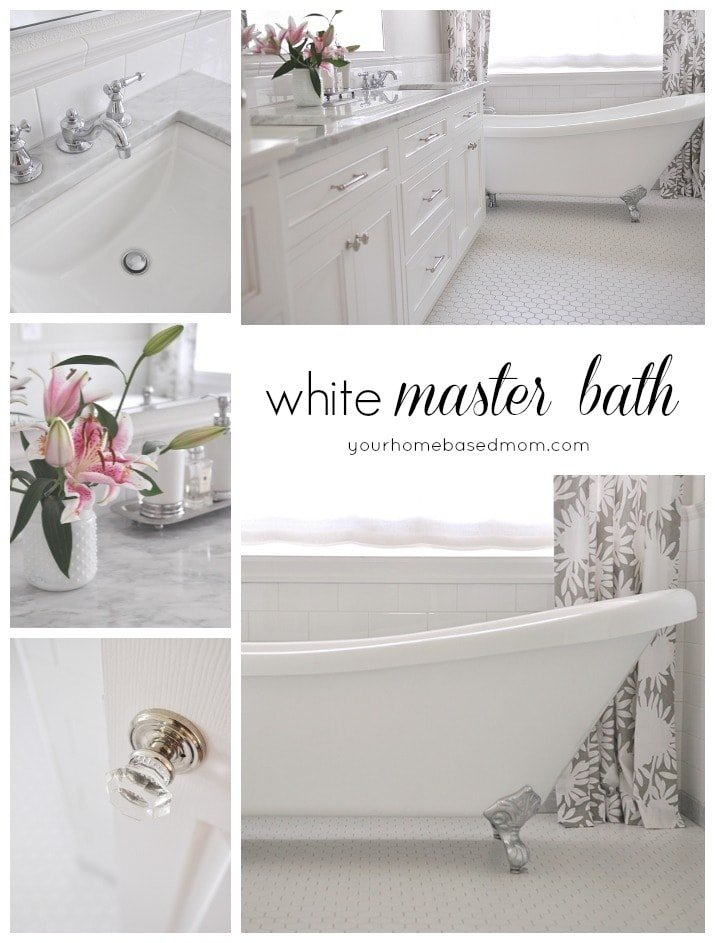 White Master Bathroom Remodel