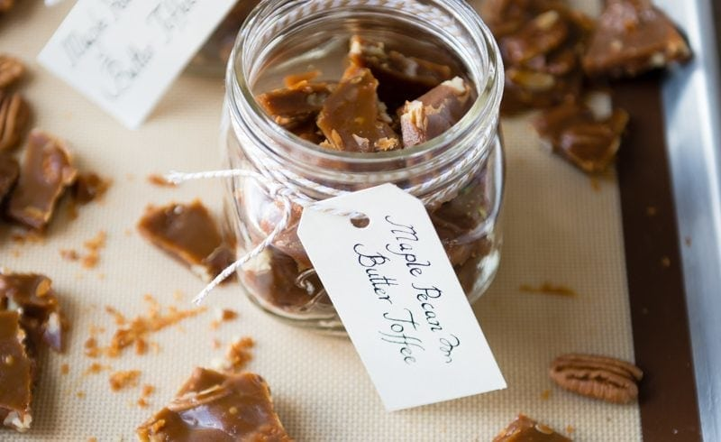 Maple Pecan Buttery Toffee