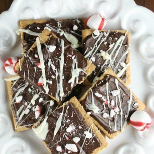 Chocolate Peppermint Graham Treats