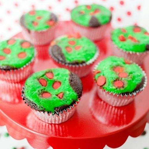 Christmas Cream Cheese Cupcakes