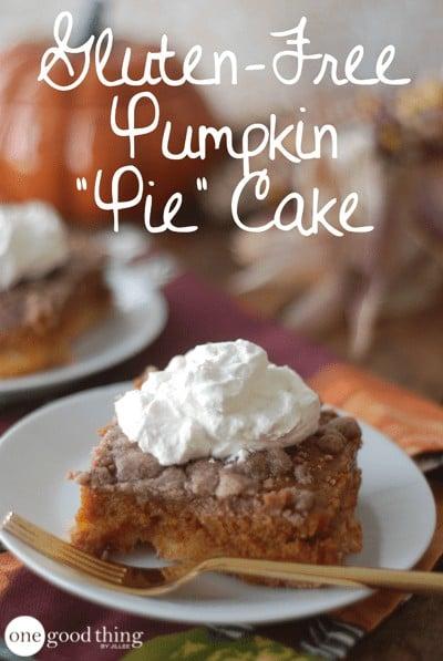 slice of gluten free pumpkin cake