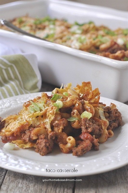 Taco Casserole - quick, easy & delicious. Perfect for a family dinner.