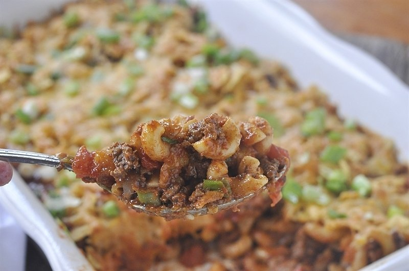 The best taco casserole ever!