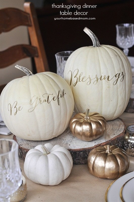 Happy fall y 39 all on pinterest fall mantels thanksgiving for White pumpkin table decorations