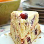slice of cranberry orange cake