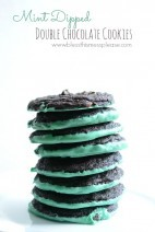 Mint Dipped Double Chocolate Cookies