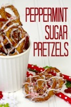 Peppermint Sugar Pretzels