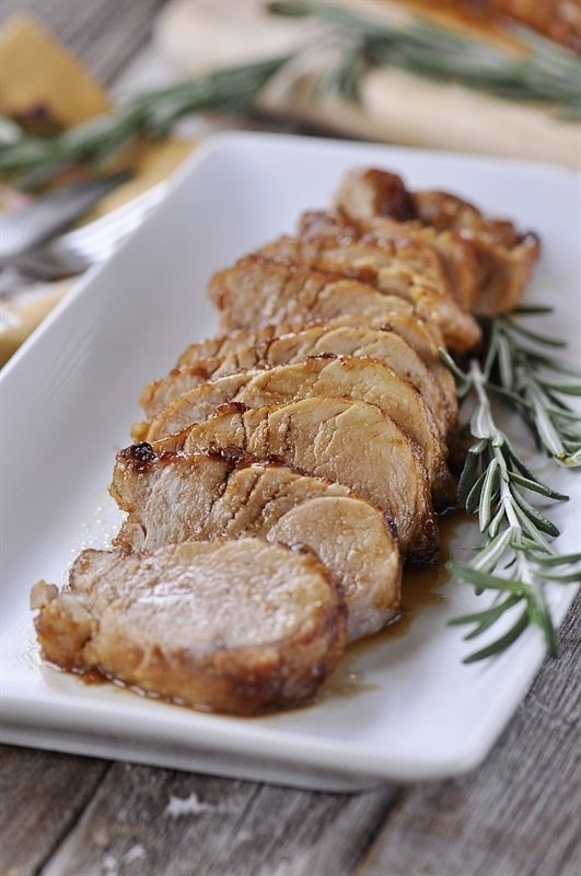 roasted maple glazed pork tenderloin