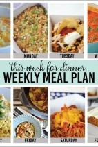 This Week for Dinner}  Weekly Meal Plan