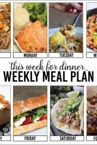 This Week for Dinner} Weekly Meal Plan #2