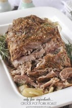 Crockpot Pork Roast }only 5 ingredients