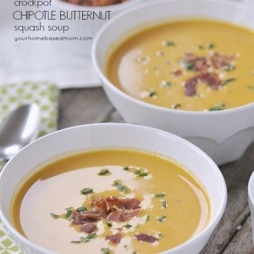 Crockpot Chipotle Butternut Squash Soup