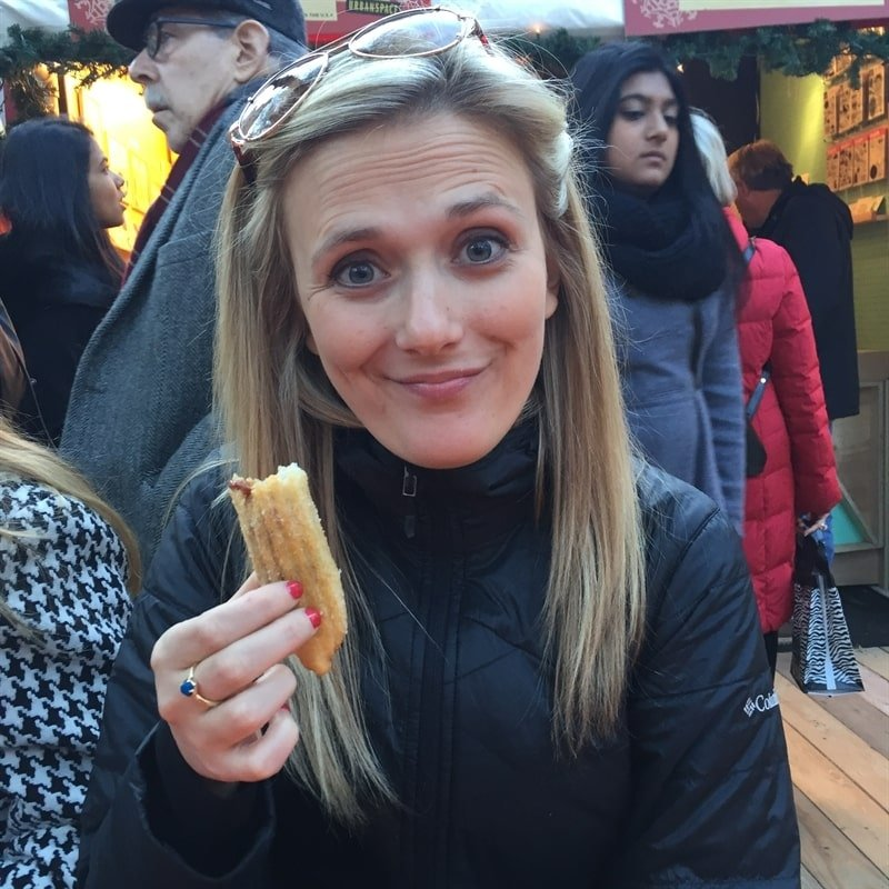Churros at the holiday market