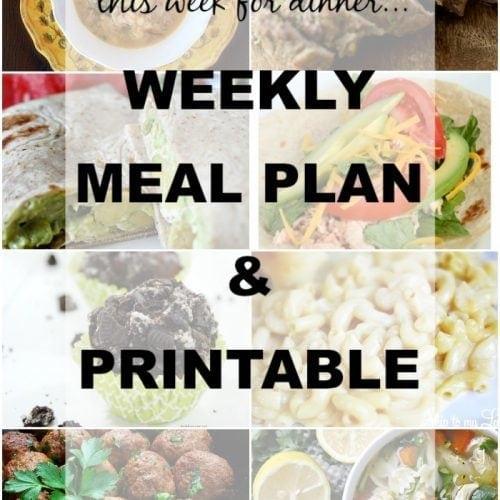 This Week for Dinner}Weekly Meal Plan #6
