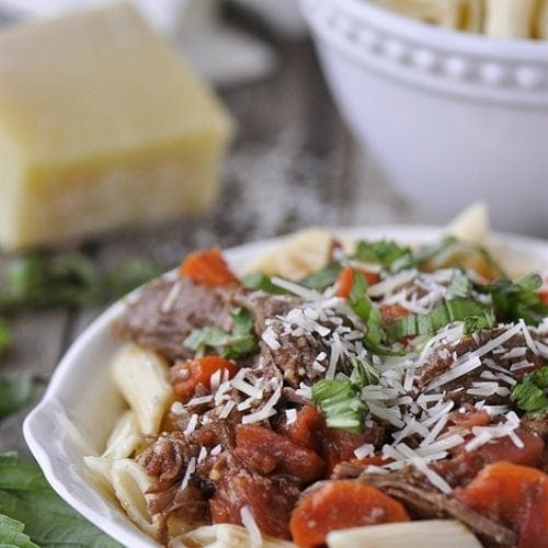 Crockpot Beef Ragu - the perfect dinner solution.