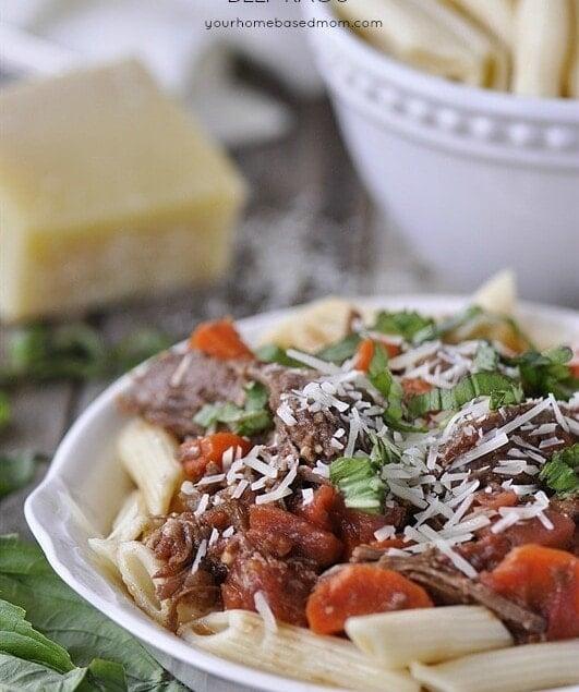 Crockpot Beef Ragu - the perfect dinner solution.