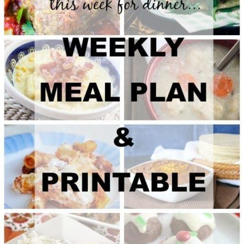 This Week For Dinner}Weekly Meal Plan #5