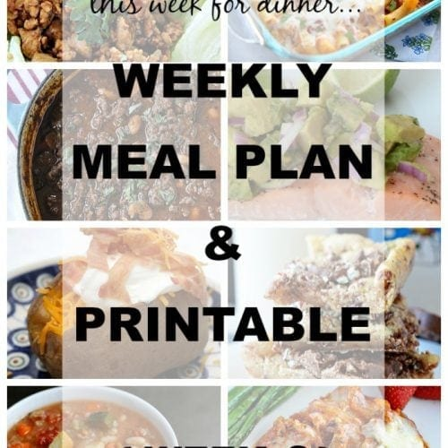 This Week for Dinner} Weekly Meal Plan #8