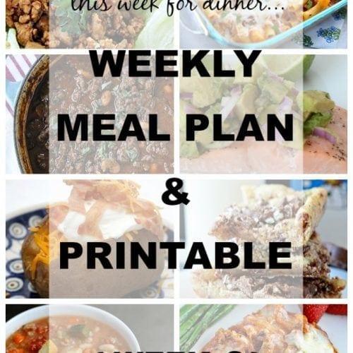 This Week for Dinner} Weekly Meal Plan #8