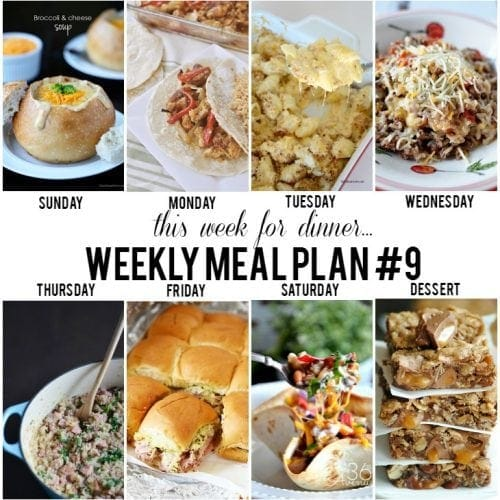 This Week for Dinner}Weekly Meal Plan #9