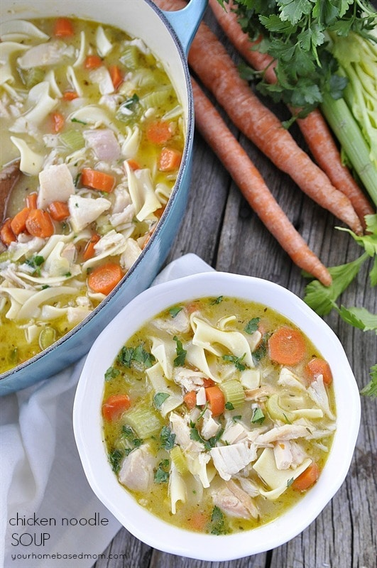 Chicken Noodle Soup is pure comfort soup and the perfect dinner ...