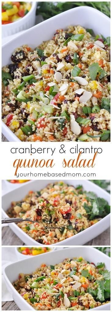 Cranberry & Cilantro Quinoa Salad - C
