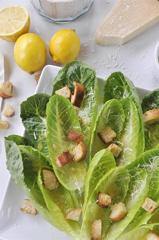 Romaine Lettuce Salad withy Lemon Vinaigrette