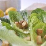 Romaine Lettuce Salad withy Lemon Vinaigrette @yourhomebasedmom.com