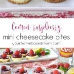 This Lemon Raspberry Mini Cheesecakes are the perfect size, the perfect flavor combination and the perfect dessert for Valentine's Day