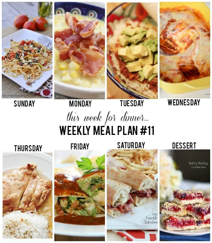This Week for Dinner {weekly meal plan #11} - Your Homebased Mom