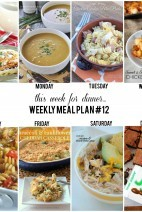 This Week for dinner}weekly meal plan #12